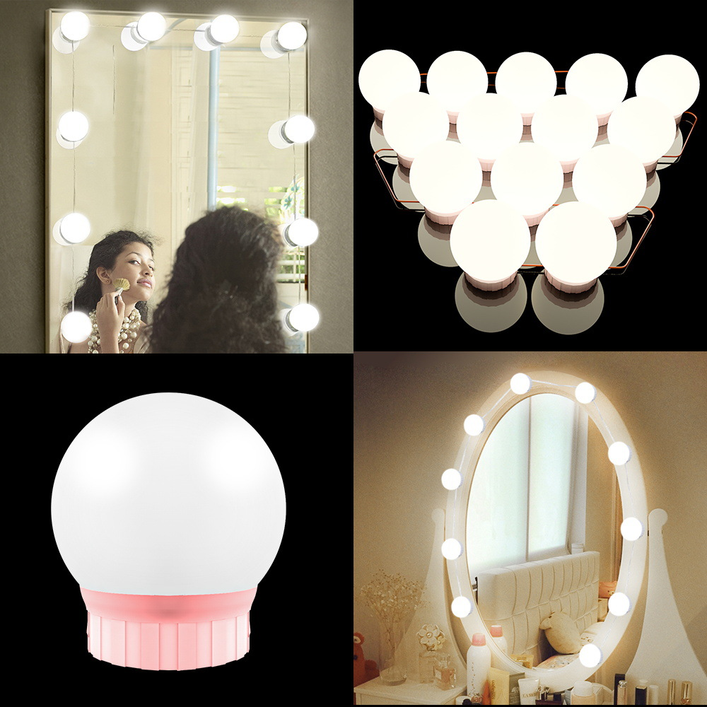 Mirror Light Vanity Mirror With Lights Led And Table Makeup Bulb 12V Plug Dimmable Touch Control Table Lighting Dressing decor 3
