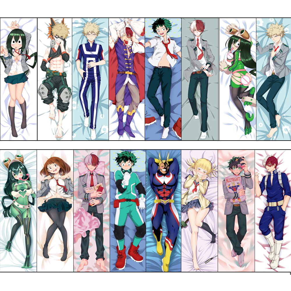 My Hero Academia Cosplay Props Anime Dakimakura Hugging Body Custom Made Pillow Case Cover Bedding Throw Cushion Loli Otaku Gift