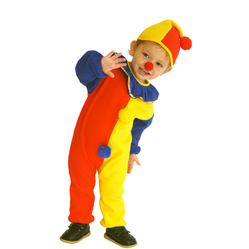 Naughty Haunted House Kids Child Clown Costume for Baby Girls Boys Toddler Halloween Purim Carnival Party Costumes 2