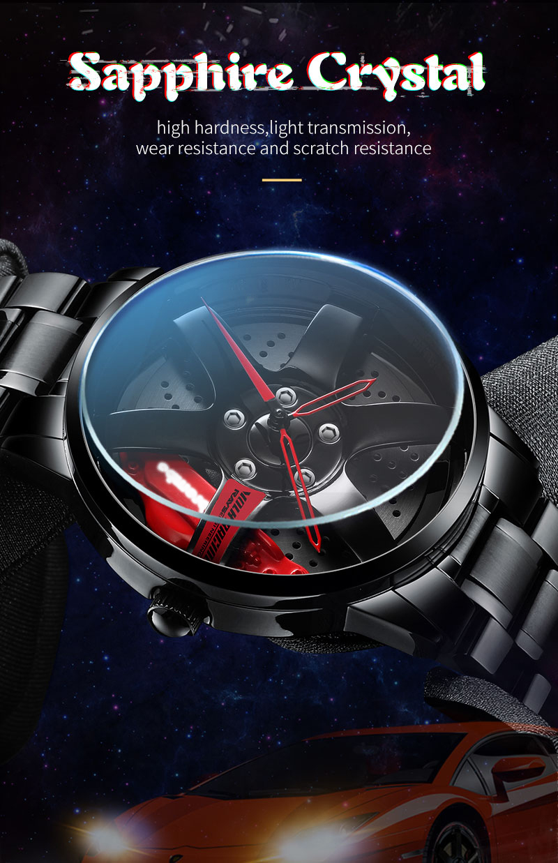 Nibosi vip mesh aço inoxidável relógio masculino