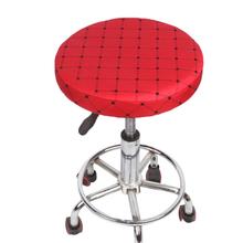Krzesło domowe pokrywa pręt okrągły stołek obudowa ochronna bawełniana tkanina na siedzenie pokrowce na krzesła dla dentysty Salon fryzjerski narzuty funda silla tanie tanio CN (pochodzenie) chair cover Gładkie barwione Nowoczesne Plaża krzesło Fotel Hotel krzesło Ślub krzesło Bankiet krzesło