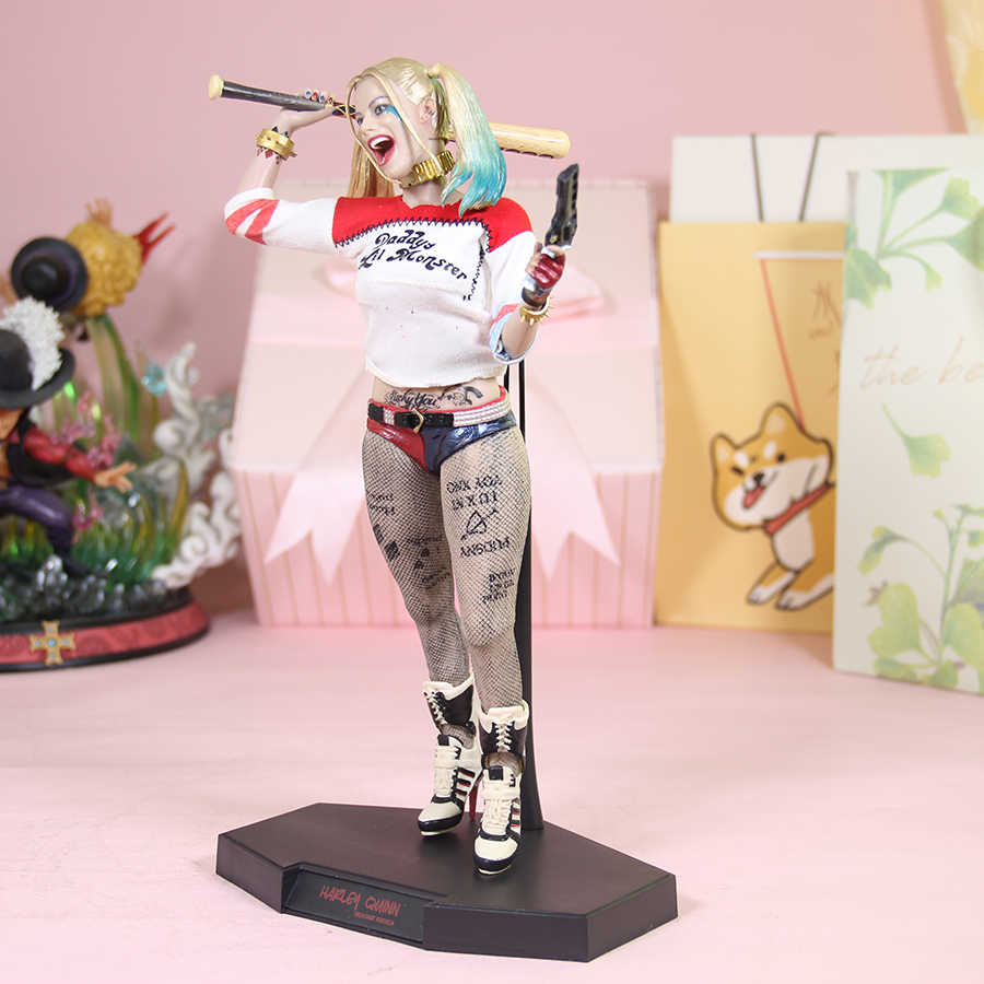 1//6 Suicide Squad Harley Quinn 28CM Action Figure Hammer Collectible Model Toy