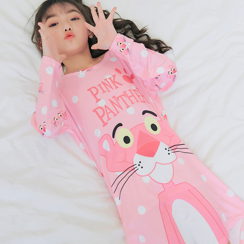 Autumn Children Small CHILDREN'S Children Girls Qmilch Long Sleeve Pajamas Nightgown Tracksuit Students Nightgown Tigger