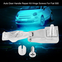 51964555 Replacement Parts Car Auto Professional Door Handle Repair Kit External Hinge Screws Durable Left Right For Fiat 500| |   -