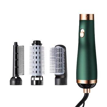 5 In 1 Ionic Hair Dryer Brush Volumizer Hot Air Brush 3 Modes Hair Straightener Comb Curler Hairdryer Brush For Hair#G 1
