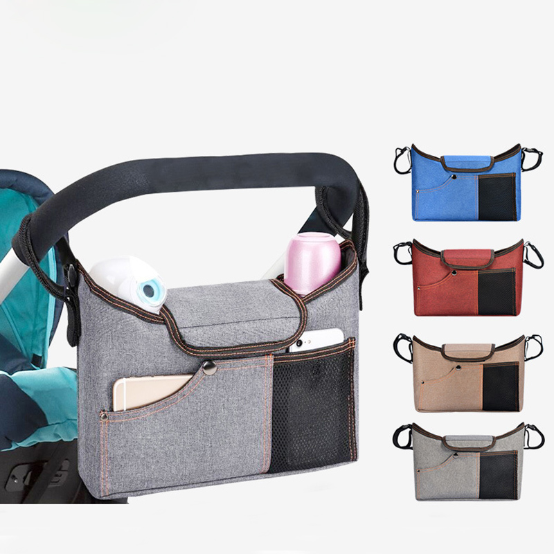 Portable Baby Bag Stroller Organizer Hanging Bag Waterproof Mum Travel Trolley Baby Diaper Nappy Bag With Pocket Storage  Bolso