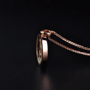 Image 4 - 18 18k 純金のペンダントリアル au 750 純金チャーム多色花高級流行の古典的なパーティーファインジュエリーホット販売新 2020