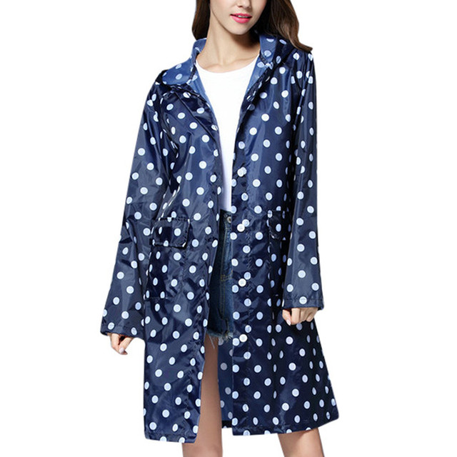 2019 New Popular Ladies Raincoat Windbreaker Jacket Poncho Womens Wave Rain Jacket Outdoor Waterproof Windproof Coat Outwear