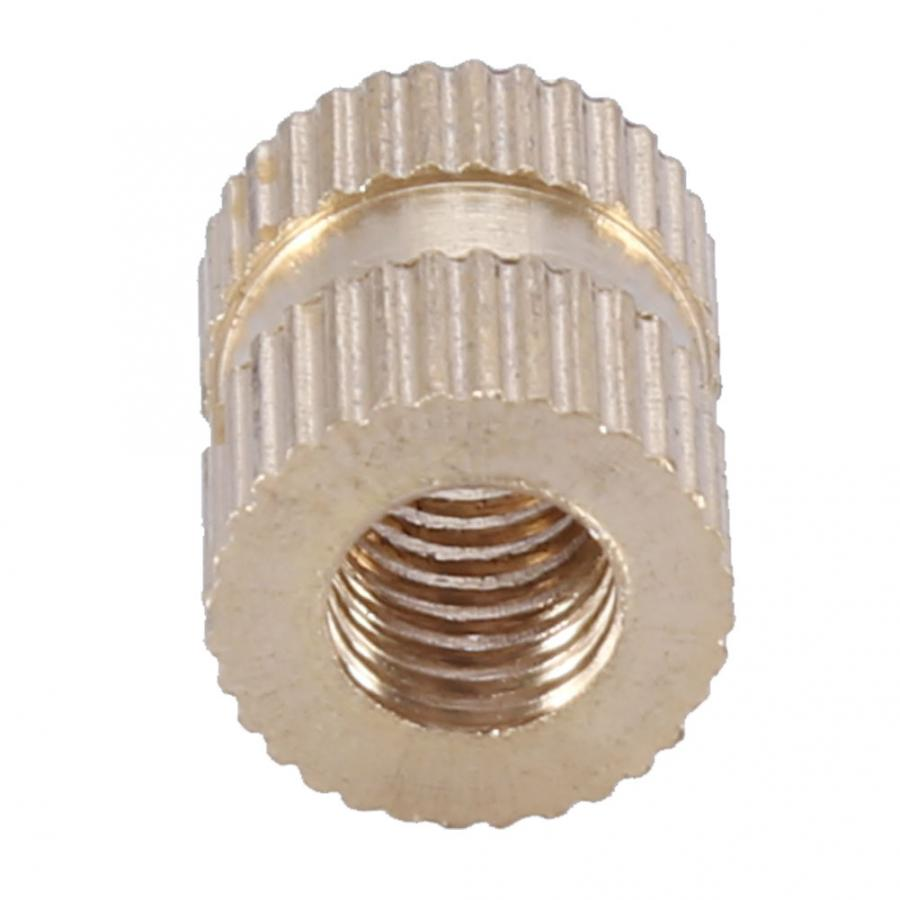 M6 Brass Tornillo Stainless Steel Square Nuts Wood Screw And Nut Cylinder Knurled Round Molded-in Insert Embedded