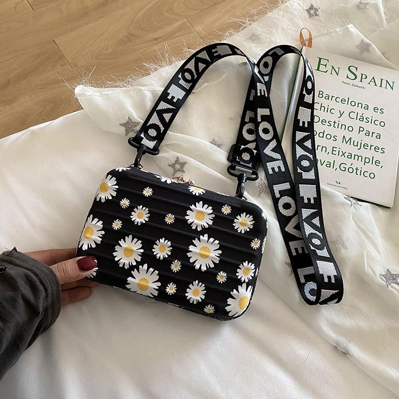 Luxury Shoulder Bags For Women Fashion Small Luggage Bag 2020 New Female Suitcase Shape Mini Bag PU Single Cartoon Clutch Bag