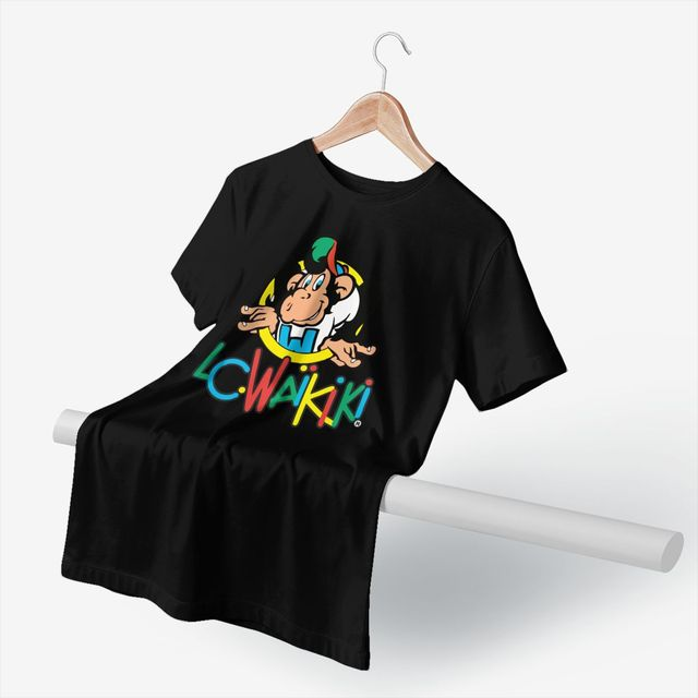 Singe T-Shirt LC Waikiki singe marchandise T-Shirt graphique coton T-Shirt hommes manches courtes plage T-Shirt