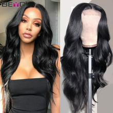 Beyo180 250 Density Peruvian Body Wave Human Hair 4x4 Lace Closure Remy Wigs For Black Women Pre Plucked With Baby Hair
