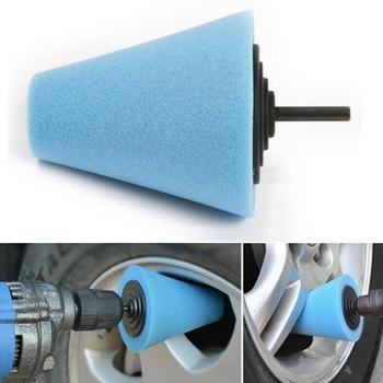 Car Polisher Tyres Wheel Wheel Hub Tool Burnishing Machine Wheel Pad Polishing Foam Hubs Polishing Cone-shape Disk Sponge Y6G3 image