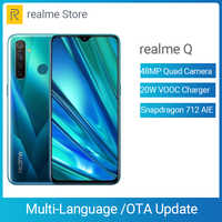 Realme Q 4GB 64GB 6,3 ''мобильный телефон Snapdragon 712 AIE Octa Core 48MP Quad Camera мобильный телефон 20W быстрое зарядное устройство