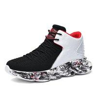 Kosz buty męskie trampki Graffiti Chunky Sneakers męskie miękkie sportowe buty wygodne trening na świeżym powietrzu trenerzy duży rozmiar 39 48 # -