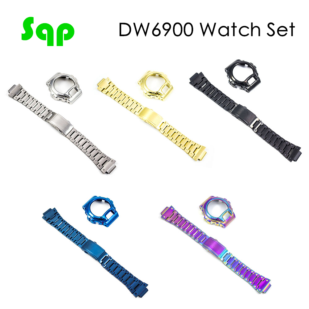 DW6900 Watch Set 5 Colors Are Available Watch Bezel 100%Metal 316L Stainless Steel Watch Accessory
