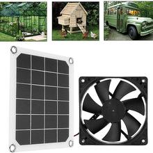 5v10w6 Inch Fan Solar Exhaust Rv Portable Exhaust Fan Greenhouse Pet House Solar Exhaust Fan High-quality Products Wholesale