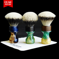 OUMO щетка-душа дерева щетка для бритья с Manchuria/шелк HMW silvetip узел shavingbrush knots
