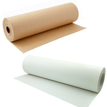 30 Meters Kraft Wrapping Paper Roll for Wedding Birthday Party Gift Flower Poster Wrapping Package Decoration Brown White Paper