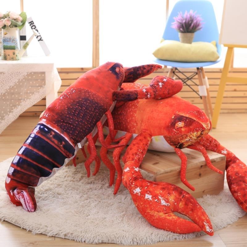 Lifelike Lobster Plush Toy Doll Stuffed Sea Animal Lobster Pillow Soft Kid Toys
