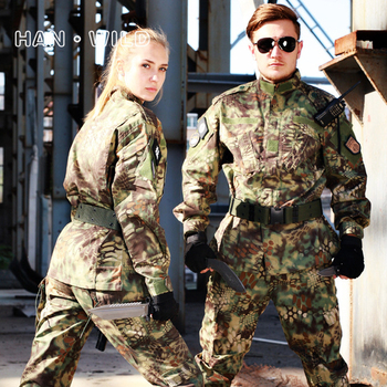 Men Army Camouflage Tactical Military Uniform Women Hunt Jacket Tatico Pants Combat Clothes Militar Outfit Airsoft Training Suit