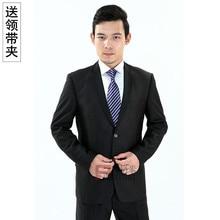 Mens tie business suit wedding groom Korean leisure 8CM stripes blue professional work