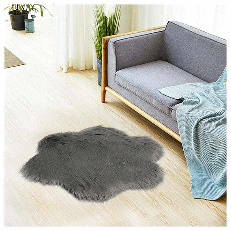 花の形ソフト毛皮椅子ソファークッション寝室シャギー絹のようなカーペットコンピュータテーブルの床の敷物祈りマットレス