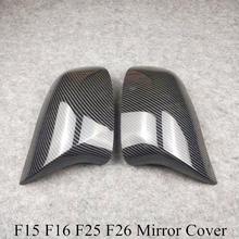 Lado Retrovisor Tampa Espelho De Carbono Olhar Para B-MW X3 F25 X4 F26 X5 F15 X6 F16 2014 2015 2017 2018 Caixas ABS Tampa Espelho