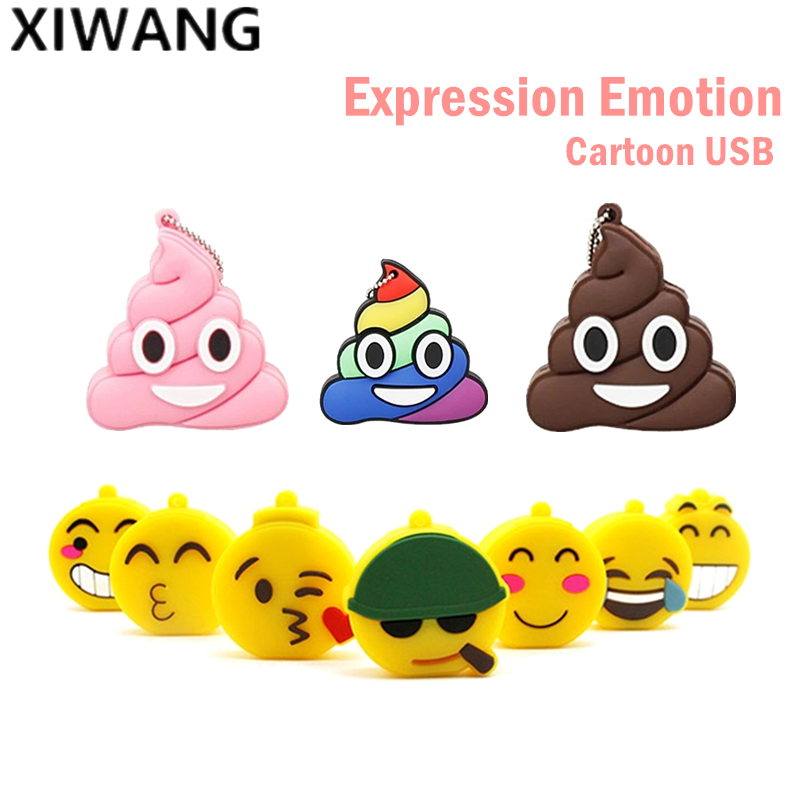 Facial Expression Emotion Series USB Flash Drive 128gb Cute Cartoon Flash Memory Stick 4GB 8GB Pen Drive 16GB Pendrive 32GB 64GB