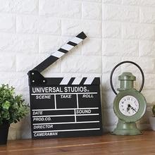 Direttore di legno Film Scene Ciac TV Video Clapper Board Prop Fotografica Appeso Decorazioni