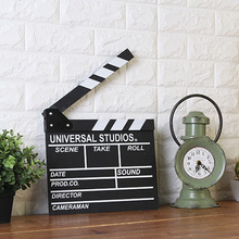 Wooden Director Movie Scene Clapperboard TV Video Clapper Board Film Photographic Prop Hanging Decorations