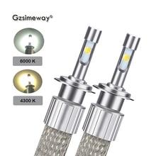 2PCS H11 LED H7 H8 H9 Auto Scheinwerfer 12V D2H H1 H4 HB4 9006 HB3 9005 H3 Lampen 4300k 6000K Weiß XHP50 Chip 20000LM Auto Nebel Lampe