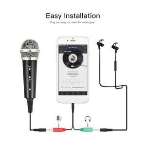 Image 2 - Kit de microfone de vídeo mikrofon com mini tripé de microfone montagem de choque pop filtro adaptador de pára brisa cabo 3.5mm plug