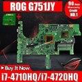 Плата отправки + G751JY материнская плата GTX980M/4 ГБ i7-4710HQ/i7-4720HQ для ASUS G751 G751J G751JY G751JL тест материнской платы ноутбука ОК
