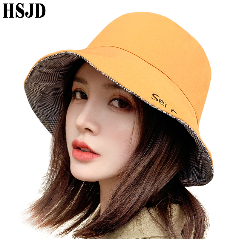Bucket Reversible Double Sided Wide Brim Two Tone Fisherman Hat UV Protection