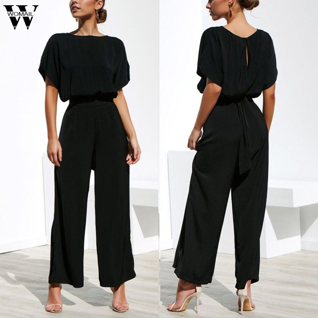 Womail Women Sexy Club Suit Sets Sleeveless Casual Short Sleeve Solid Bandage O-Neck Tops+Pants Suit Womne Suit Sets S-XL