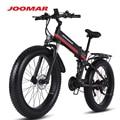 JOOMAR 1000 ваттовый мотовелосипед; JM01 плюс 48В электродвигатель для Для мужчин складной электровелосипед высокое качество Алюминий сплав с толс...