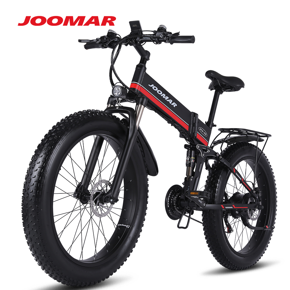 JOOMAR 1000 ваттовый мотовелосипед; MX01 плюс 48В электродвигатель для Для мужчин складной электровелосипед высокое качество Алюминий сплав с толс...