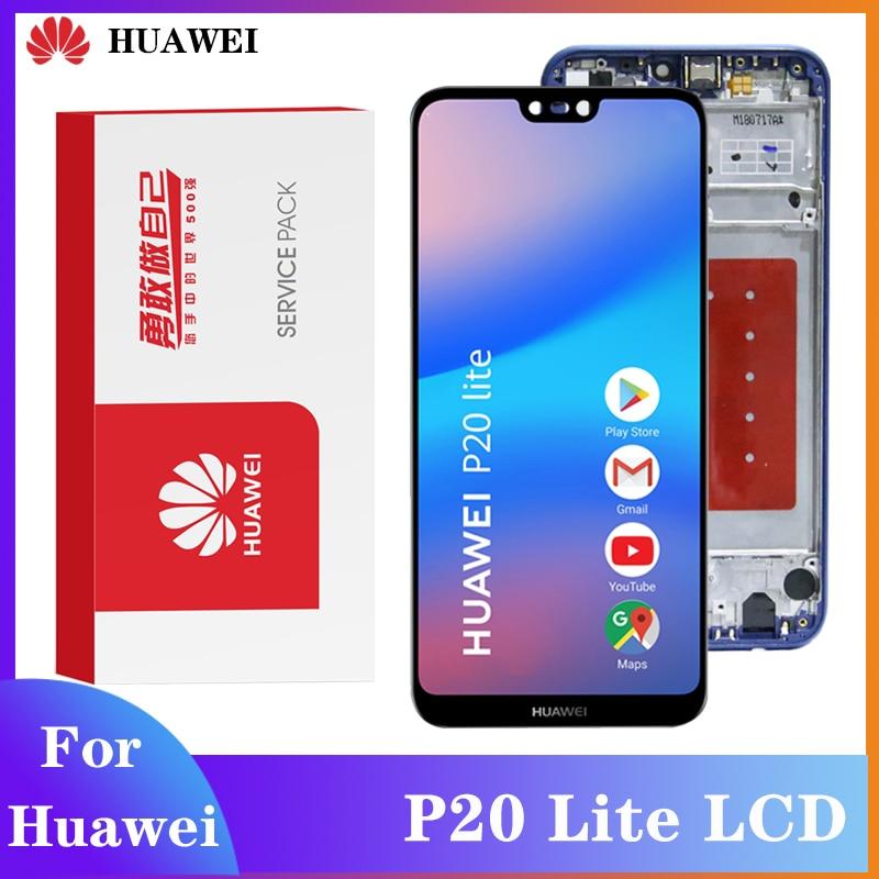 Оригинальный дисплей для Huawei P20 Lite ЖК-экран для Huawei Nova 3e ЖК-дисплей сенсорный экран дигитайзер в сборе