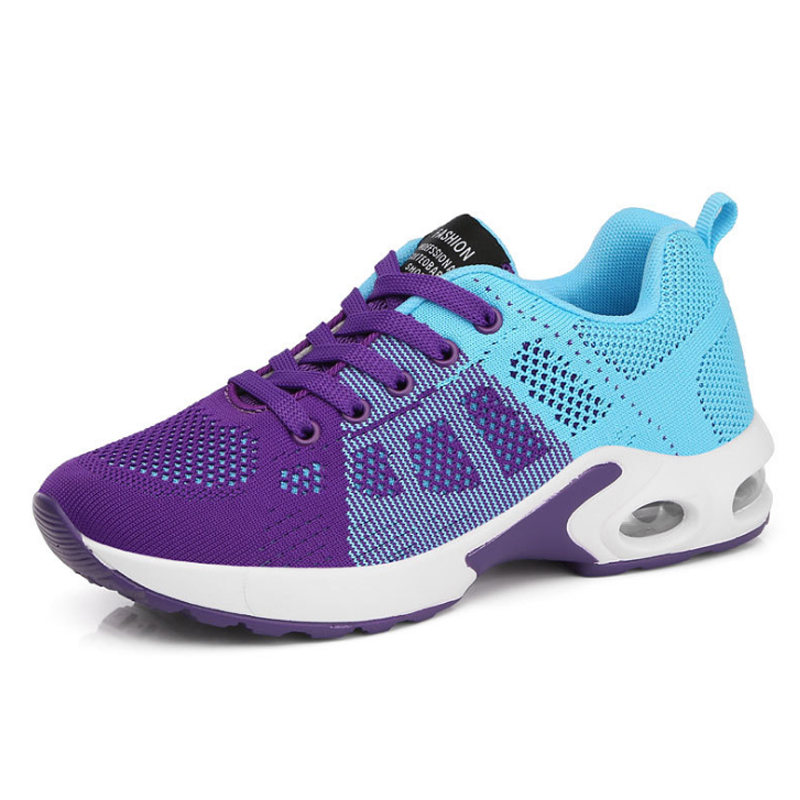 KAMUCC/Новинка; женские кроссовки на платформе; дышащая женская повседневная обувь; модная женская обувь, увеличивающая рост; большие размеры 35-42 - Цвет: Фиолетовый
