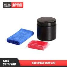 SPTA Juego de barro para lavado de coche con toalla, arcilla limpia con detalle automático, juego de limpieza para coche