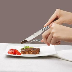 Image 4 - Huohou paslanmaz çelik biftek bıçakları kaşık çatal sofra kaliteli yüksek dereceli akşam yemeği yemek takımı ev çatal bıçak kaşık seti