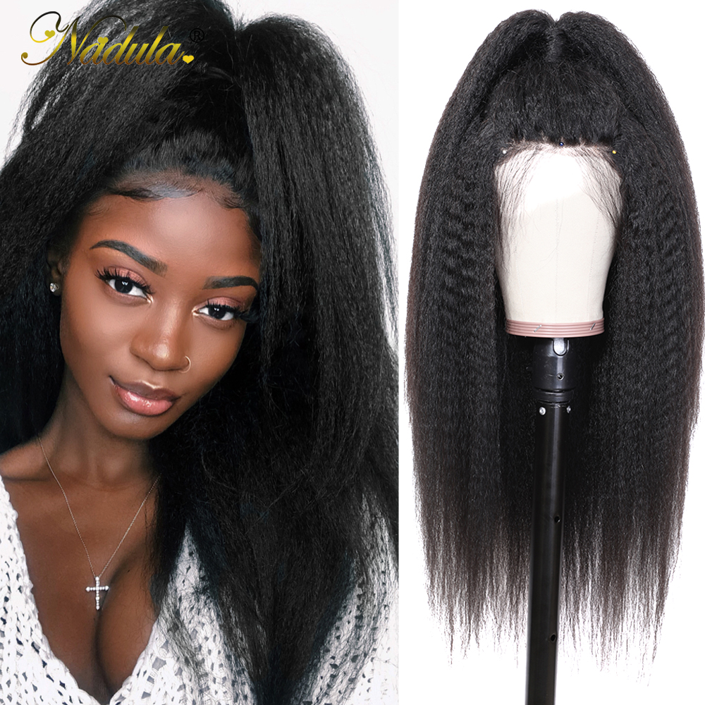 Nadula Hair 13x4/13x6 Lace Wig  Wigs With Lace Front    Hair Kinky Straight Wig With Baby Hair 1