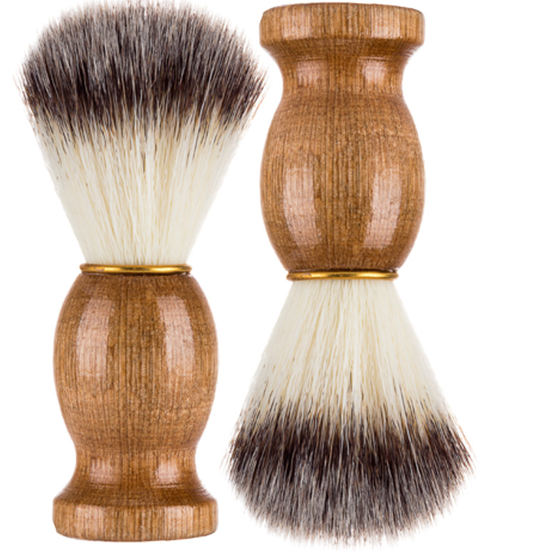 Pure Nylon Men Shaving Brush Barber Salon Men Facial Beard To Comb Beards Wood Handle Razors Shaving Accessorie