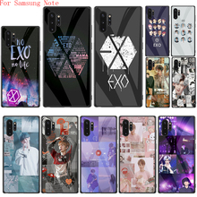 Чехол EXO band k-pop из закаленного стекла для Samsung Note 8 9 10 Plus Note 10 Lite Note 20 Ultra, задняя крышка