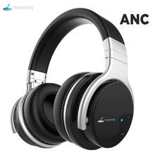 Meidong E7B نشط إلغاء الضوضاء سماعات بلوتوث سماعات رأس لاسلكية مع ميكروفون على الأذن ستيريو عميق باس 30H اللعب