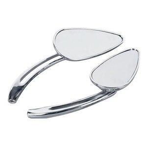 Image 5 - Motorcycle Mirror Universal 8mm 10mm Rearview Side Mirrors For Honda Yamaha Suzuki Kawasaki BMW Dacuti Choppers Cruiser Custom