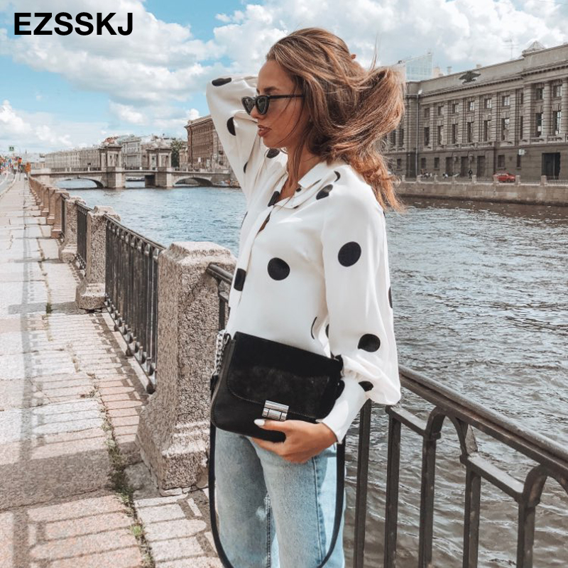 Blouse shirt women big dot shirt 1