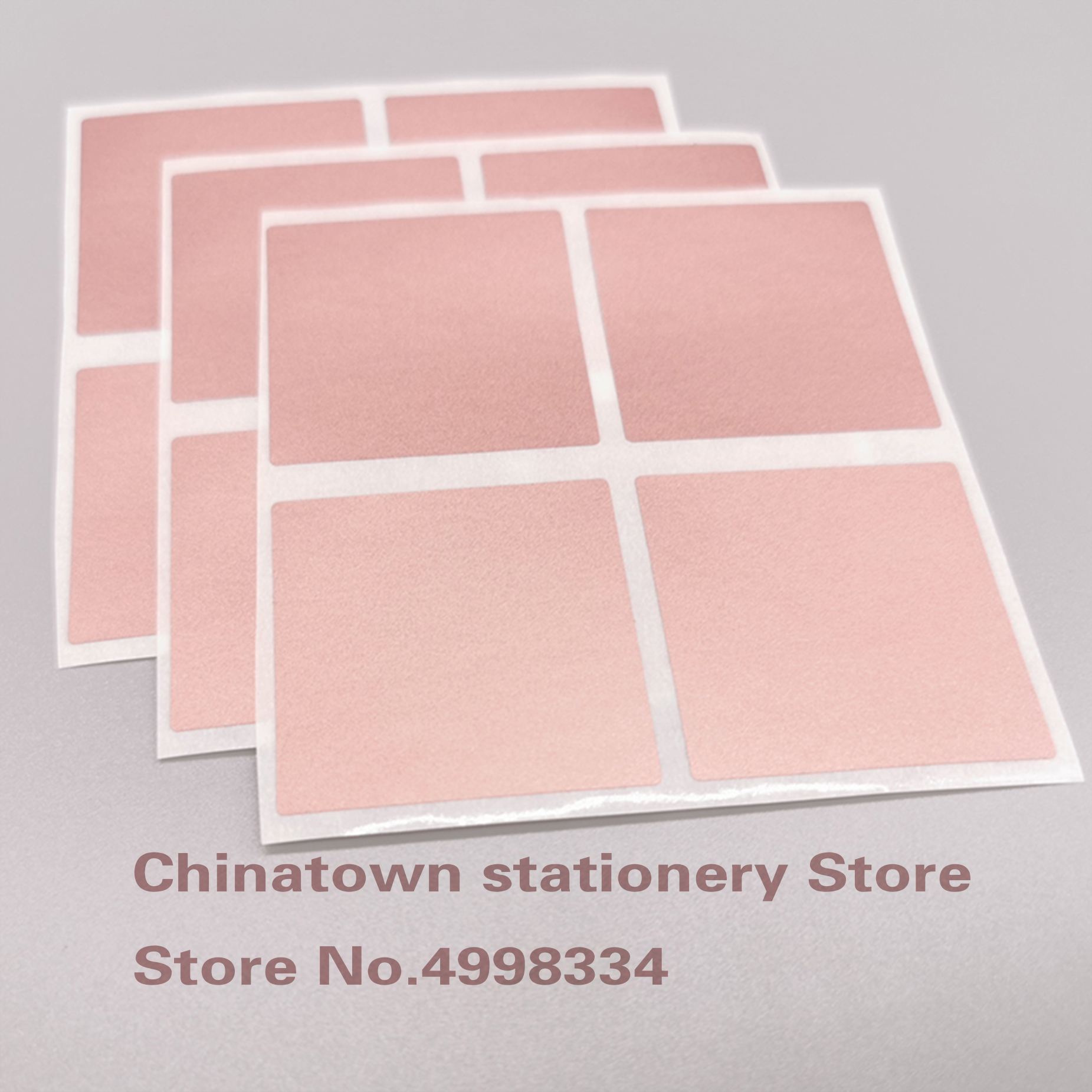 50pcs 40mm Rose Gold Square Scratch Off Stickers Labels Tickets Promotional Games