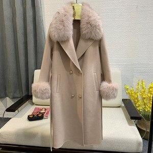 Image 3 - ขนสัตว์จริงฟ็อกซ์ขนสัตว์ 2019 ฤดูใบไม้ร่วงฤดูหนาวผู้หญิงOutwearแจ็คเก็ตWarmยาวสีเทาขนสัตว์เสื้อแจ็คเก็ตขนสุนัขจิ้งจอกจริง